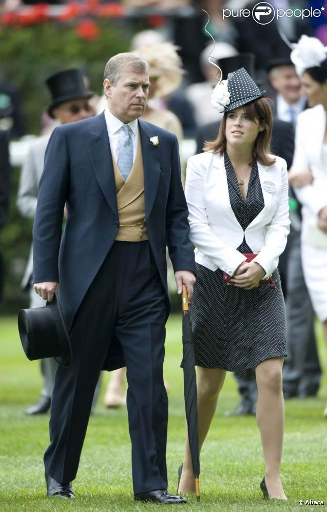 Meeting royal d'Ascot 2009 : la princesse Eugenie d'York et son père le duc Andrew