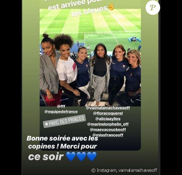 Les Miss au Stade de France le 7 juin 2019 pour soutenir les Bleues pendant la Coupe du monde de footbal féminine 2019.