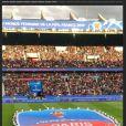 Flora Coquerel poste des images du match de football le 7 juin 2019.