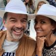 Stéphane Plaza et son amie Karine Le Marchand, le 9 juin 2019.