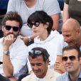 Arnaud Clément et sa compagne Nolwenn Leroy - People dans les tribunes lors de la finale messieurs des internationaux de France de tennis de Roland Garros 2019 à Paris le 9 juin 2019. © Jacovides-Moreau/Bestimage
