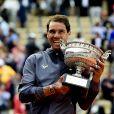 Rafael Nadal remporte son 12 ème titre lors de la finale messieurs des internationaux de France de tennis de Roland Garros 2019 à Paris, France, le 9 juin 2019. © Jean-Baptiste Autissier/Panoramic/Bestimage