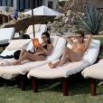 Kourtney Kardashian, son ex-compagnon Scott Disick, leurs enfants Mason, Penelope et Reign et la petite amie de Scott, Sofia Richie, en vacances à Cabo San Lucas, au Mexique. Le 23 décembre 2018.