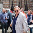 """Exclusif - Gérard Depardieu arrive au théâtre Royal lors de sa tournée """"Depardieu chante Barbara"""" à Mons en Belgique le 6 avril 2019."""