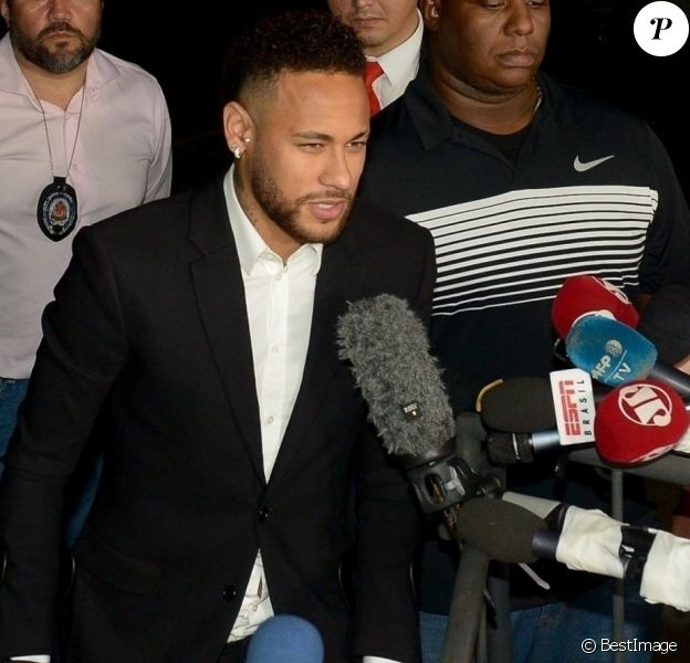 Accusé de viol par Najila Trindade, Neymar Jr. s'est expliqué devant les enquêteurs du commissariat de São Paulo au Brésil, le 13 juin 2019.
