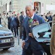 """Le prince Charles - Service religieux """"Royal British Legion Service of Remembrance"""" en la cathédrale de Bayeux à l'occasion du 75ème anniversaire du débarquement. Le 6 juin 2019"""