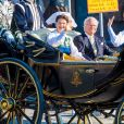 La princesse Madeleine de Suède partageait le landau de la princesse héritière Victoria, du prince Daniel et leurs enfants Estelle et Oscar lors de la Fête nationale suédoise le 6 juin 2019.