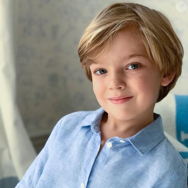 Portrait du prince Nicolas de Suède dévoilé le 15 juin 2019 pour son 4e anniversaire, réalisé par sa maman la princesse Madeleine. Instagram.