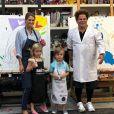 La princesse Madeleine de Suède a fait un atelier peinture avec sa fille la princesse Leonore et son fils le prince Nicolas, sous la houlette de son ami Romero Britto, en mai 2019. Photo Instagram.