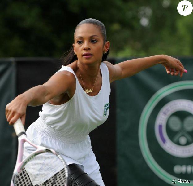 Alesha Dixon à Londres pour le tournois de Wimbledon, le 22 juin 2009