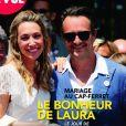 """Laura Smet et  Raphaël Lancrey-Javal en couverture du magazine """"Point de vue"""", numéro du 19 juin 2019."""