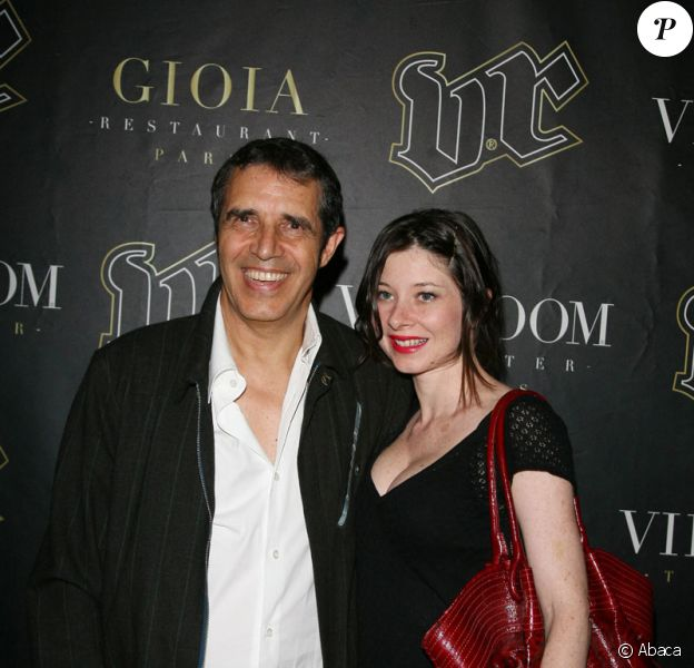 Julien Clerc et Hélène Grémillon au VIP Room à Paris le 22 juin 2006