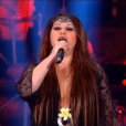 Nathalie Cardone sur le plateau des Années bonheur le 16 avril 2016 sur France 2.