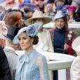 Catherine (Kate) Middleton, duchesse de Cambridge, le prince William, duc de Cambridge - La famille royale britannique et les souverains néerlandais lors de la première journée des courses d'Ascot 2019, à Ascot, Royaume Uni, le 18 juin 2019.