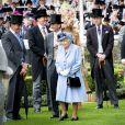 La reine Elisabeth II d'Angleterre, Catherine (Kate) Middleton, duchesse de Cambridge, le prince William, duc de Cambridge, le roi Willem-Alexander des Pays-Bas, la reine Maxima des Pays-Bas - La famille royale britannique et les souverains néerlandais lors de la première journée des courses d'Ascot 2019, à Ascot, Royaume Uni, le 18 juin 2019.