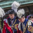 Le prince William, duc de Cambridge, le prince Charles, prince de Galles - Le service de la Jarretière (the Garter service) à la chapelle St Georges à Windsor le 17 Juin 2019.