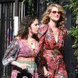 Laura Dern et sa fille Jaya Harper - Les célébrités arrivent à la réception du mariage de Zoe Kravitz et Karl Glusman dans la maison de Lenny Kravitz à Paris, France, le 29 juin 2019.
