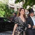 Marisa Tomei - Les célébrités arrivent à la réception du mariage de Zoe Kravitz et Karl Glusman dans la maison de Lenny Kravitz à Paris, France, le 29 juin 2019.