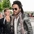 Lenny Kravitz - Les invités de Zoe Kravitz et de son mari Karl Glusman arrivent au restaurant Lapérouse à Paris pour leur Pre Wedding Party le 28 juin 2019.