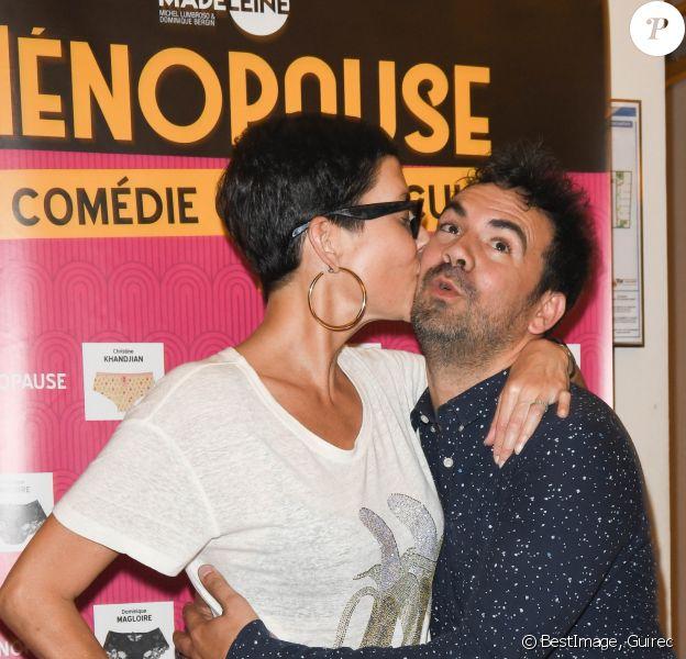 """Exclusif - Cristina Cordulia et Alex Goude - Photocall du spectacle """"Ménopause"""" au Théâtre de la Madeleine à Paris. Le 29 juin 2019 © Coadic Guirec / Bestimage"""