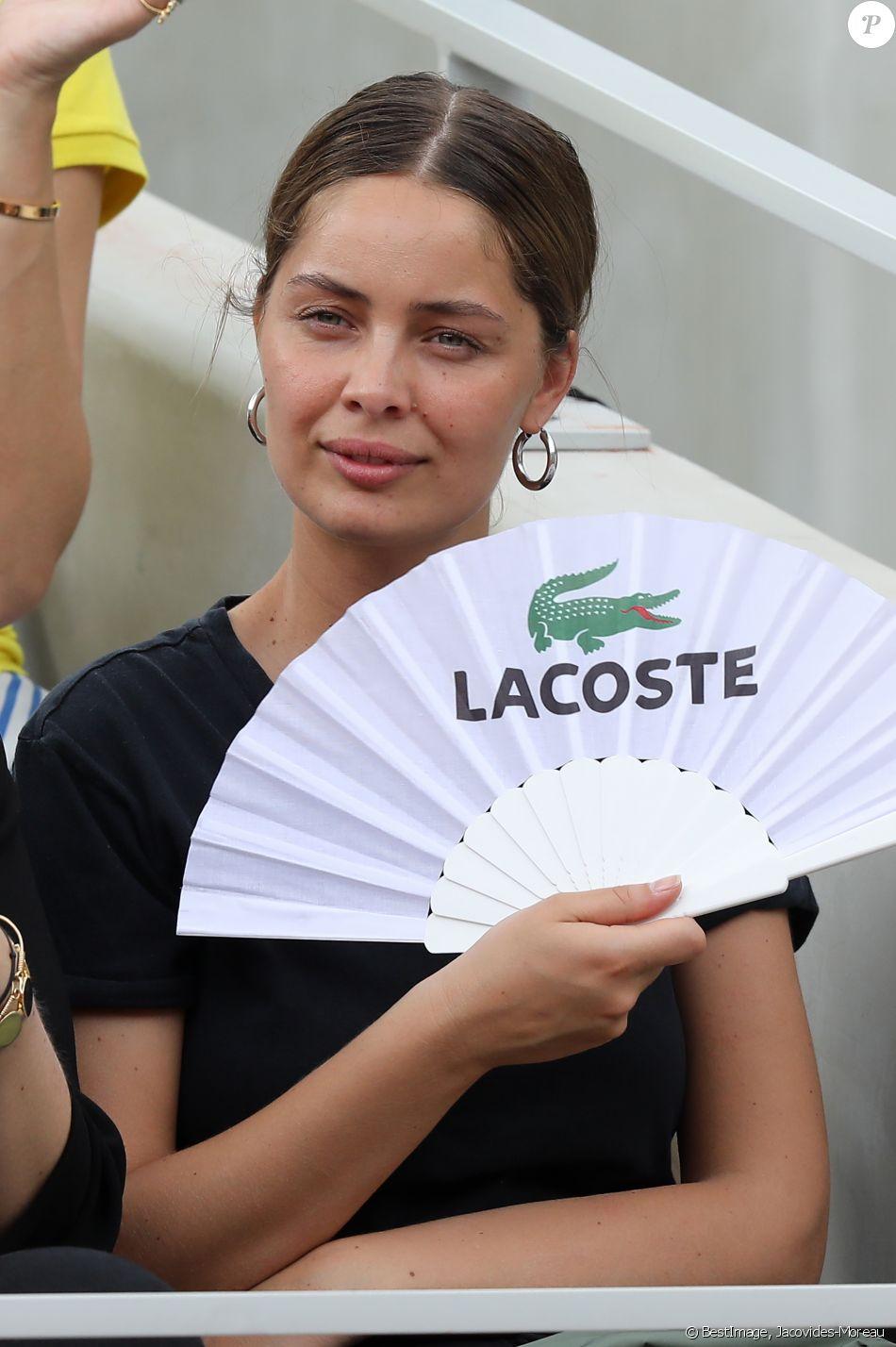 Marie-Ange Casta dans les tribunes lors des internationaux de tennis de Roland Garros à Paris, France, le 4 juin 2019. © Jacovides-Moreau/Bestimage