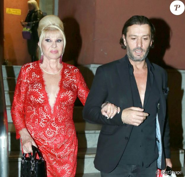 "Ivana Trump, Rossano Rubicondi lors de l'émission ""Danse avec les stars"" à Rome, Italy, le 5 mai 2018."