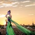 """Céline Dion en concert lors du """"2019 British Summer Time Festival""""à Hyde Park. Londres, le 5 juillet 2019."""