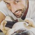 Laurent Kerusoré avec sa chienne Ginette - photo Instagram, le 18 avril 2019