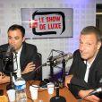 """Exclusif - Charles Consigny, Sylvain Mirouf - People lors de l'enregistrement de l'émission """"Le Show de Luxe"""" sur la Radio Voltage à Paris le 4 juillet 2019. © Philippe Baldini/Bestimage"""