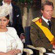 Maria Teresa et Henri, grand-duc et grande-duchesse de Luxembourg, lors de la Fête Nationale 2009