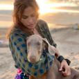 Lucho, le chien adopté par Eva Mendes et Ryan Gosling, juillet 2019.