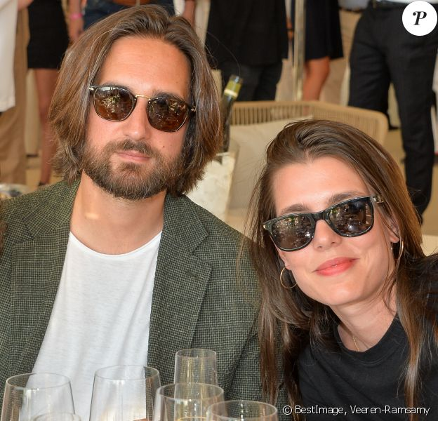 Exclusif - Charlotte Casiraghi-Rassam et son mari Dimitri Rassam dans la tente VIP lors du Longines Paris Eiffel Jumping au Champ de Mars à Paris, le samedi 6 juillet 2019. © Veeren-Ramsamy/Bestimage
