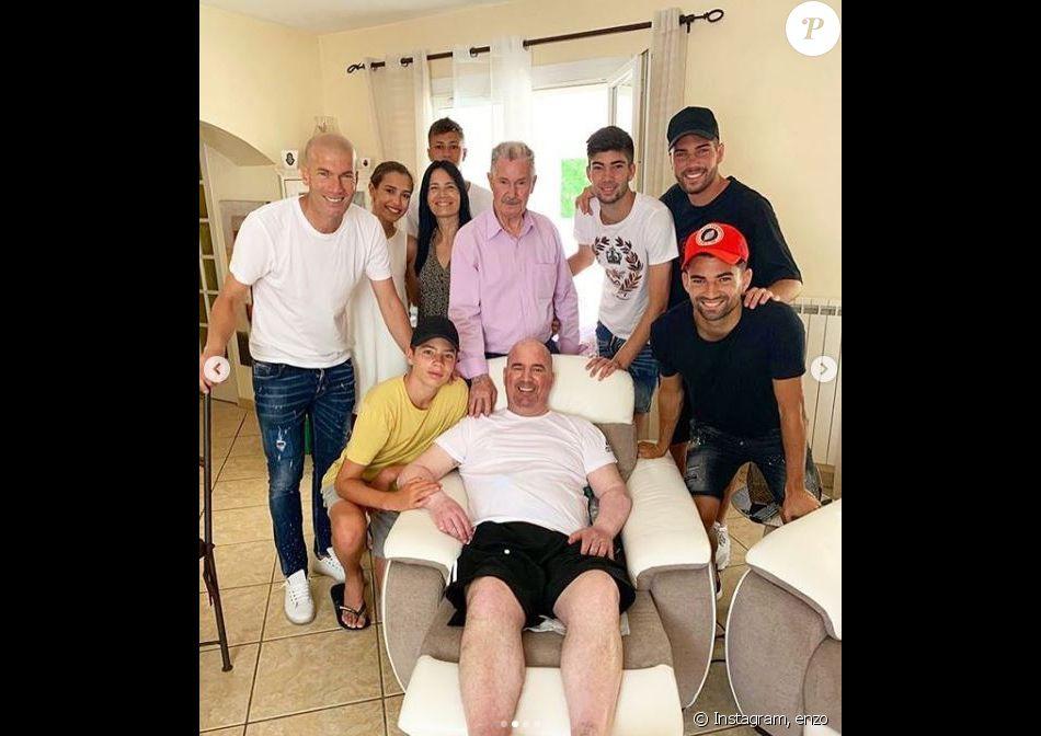Enzo Zidane rend hommage à son oncle Farid, décédé le 12 juillet 2019 à Marseille, sur Instagram le 15 juillet 2019.