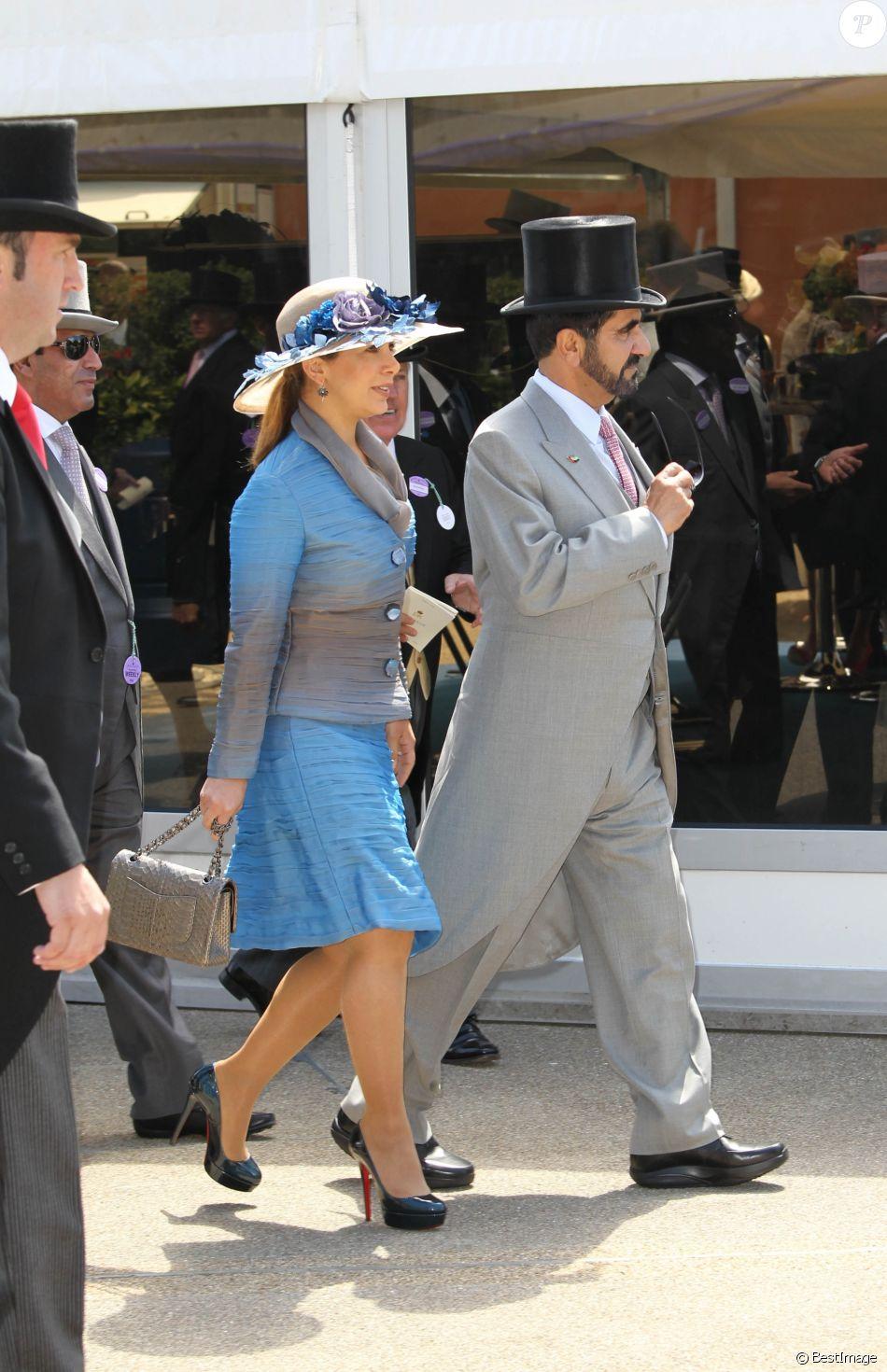 La princesse Haya de Jordanie et le cheik Mohammed Bin Rashid Al Maktoum le 15 juin 2010 à Ascot.