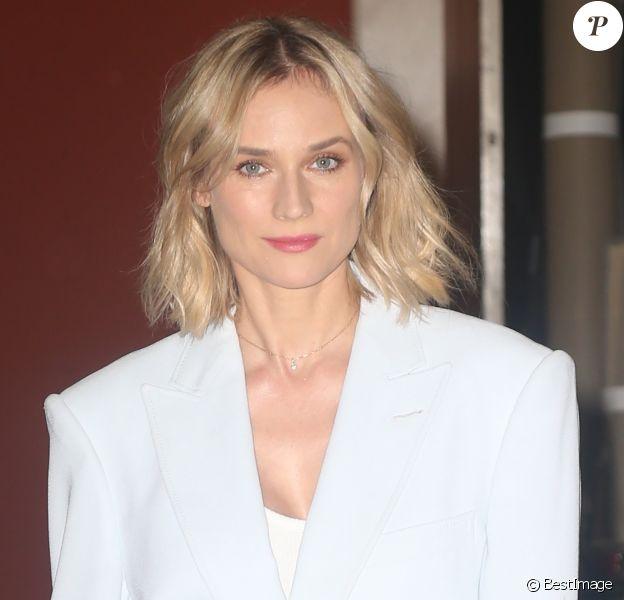 Diane Kruger quitte les studios de l'émission 'Live with Kelly & Ryan' à New York, le 18 juillet 2019.