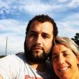 """Claire de """"L'amour est dans le pré"""" avec son compagnon Sébastien, le 9 juin 2019"""