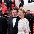 """Christian Estrosi et sa femme Laura Tenoudji - Montée des marches du film """"A Hidden Life"""" lors du 72ème Festival International du Film de Cannes. Le 19 mai 2019 © Jacovides-Moreau / Bestimage"""