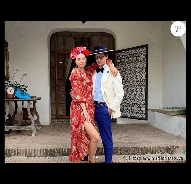 Maria Sharapova pose avec Alexander Gilkes sur Instagram le 22 juillet 2019.