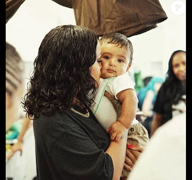 Rihanna et le fils de DJ Khaled, Asahd.