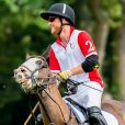 Le prince Harry, duc de Sussex lors d'un match de polo de bienfaisance King Power Royal Charity Polo Day à Wokinghan, comté de Berkshire, Royaume Uni, le 10 juillet 2019.