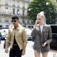 Nick Jonas, son frère Joe et sa femme Sophie Turner arrivent au restaurant L'Avenue à Paris. Le 23 juin 2019