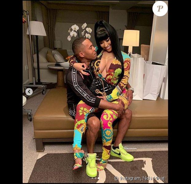 Nicki Minaj et son compagnon Kenneth Petty. 2019.