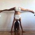 La belle Alexandra Rosenfeld lors d'une session yoga, le 31 juillet 2019.