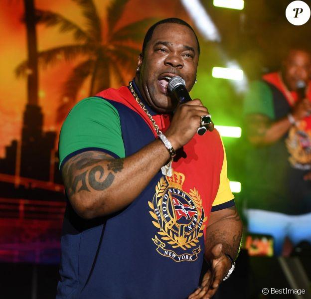 """Busta Rhymes sur scène lors du festival """"Kaya"""" à Miami, le 21 avril 2019."""