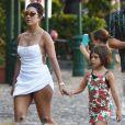 Kourtney Kardashian et ses enfants (Mason, Penelope et reign) passent leurs vacances à Portofino. Le 3 août 2019