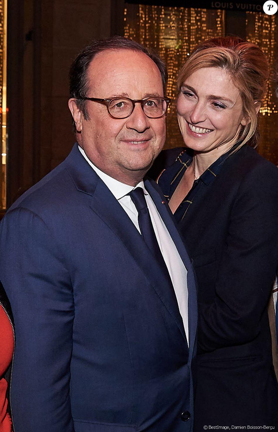 """François Hollande et sa compagne Julie Gayet - After-party de la saison 3 de la série """"10 pour cent"""" au Montana à Paris le 25 Avril 2018."""
