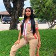 La rappeuse Yung Miami (du groupe City Girls), enceinte de son deuxième enfant. 2019.
