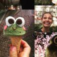 Adeline Blondieau s'est rendue au Japon et a retrouvé son fils Aïtor. Instagram, juillet/août 2019.