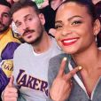 M. Pokora et Christina Milian au Staples Center de Los Angeles pour un match des Lakers le 7 novembre 2018.