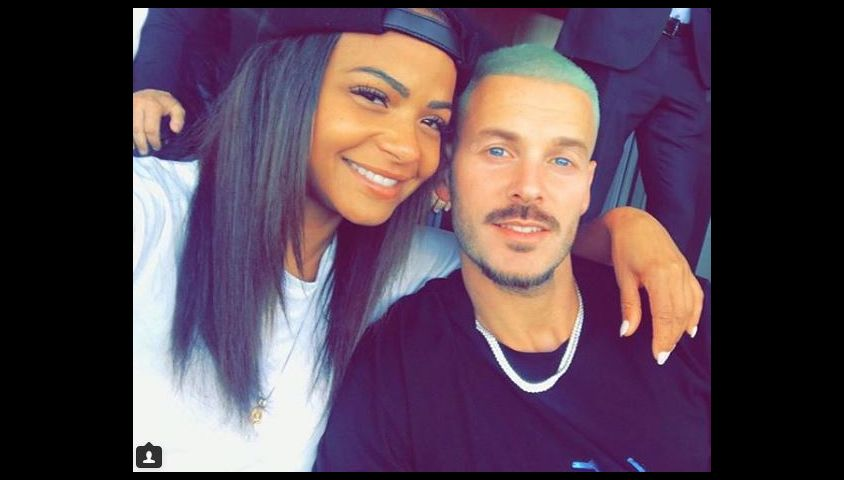 Christina Milian et M. Pokora lors d'un match de Los Angeles Galaxy à Los Angeles. Instagram, le 9 avril 2018.